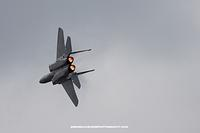 F15 Eagle with afterburners lit